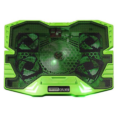 Suporte para Notebook Master Cooler Gamer com Led Warrior Verde - Multilaser