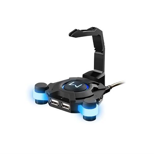 Hub Gamer USB com 4 Portas Warrior Preto - Multilaser
