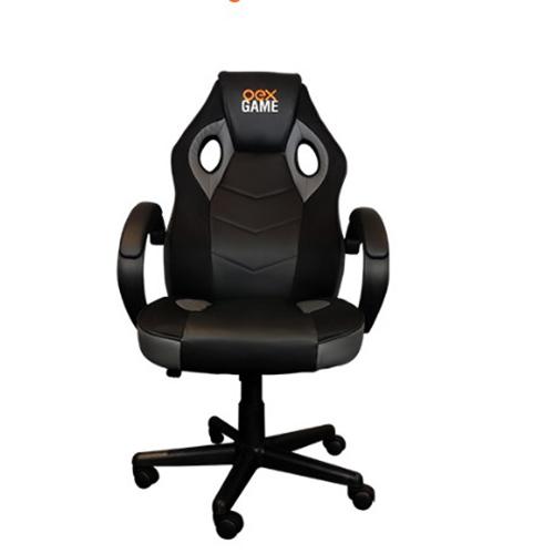 Cadeira Game Chair Cloud Preta e Cinza - Oex