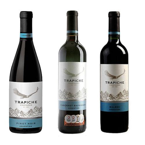 Kit 3 Vinhos Trapiche 750ml