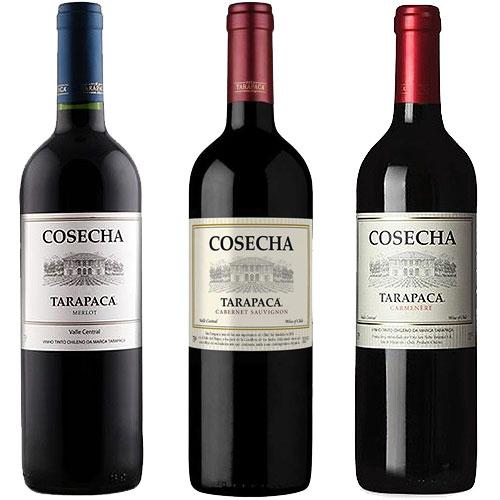 Kit 3 Vinhos Cosecha Tarapacá 750ml