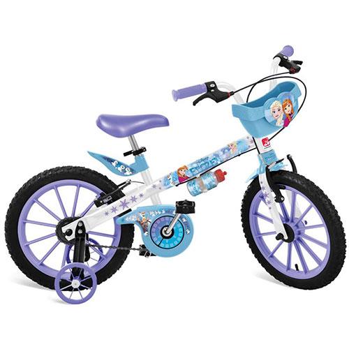 Bicicleta Aro 16 Frozen Disney c/ Cesta e Garrafinha - Brinquedos Bandeirante
