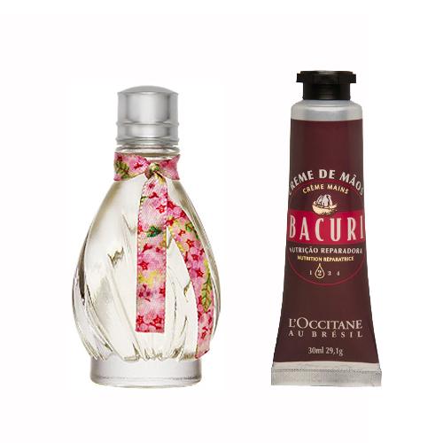 Desodorante Colônia Flor de Carambola 15ml + Creme Hidratante para Mãos Bacuri 30ml - L'Occitane au Brésil