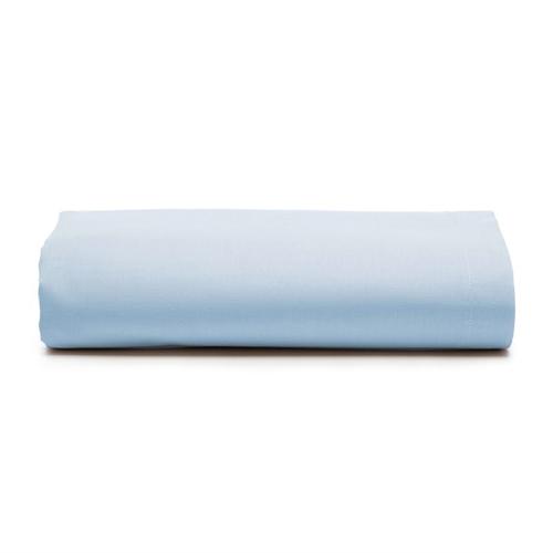 Lençol Superior sem Elástico Avulso Casal Royal 100% Algodão Azul - Santista
