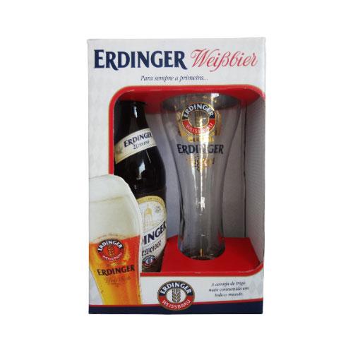Kit Cerveja Erdinger Urweisse 500ml com Copo