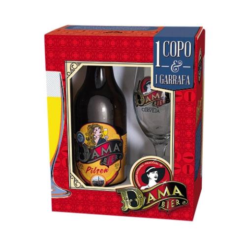 Kit Cerveja Dama Bier Pilsen 600ml com Copo