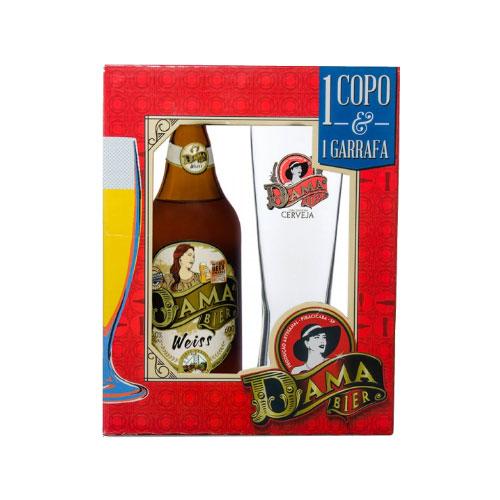 Kit Cerveja Dama Bier Weiss 600ml com Copo
