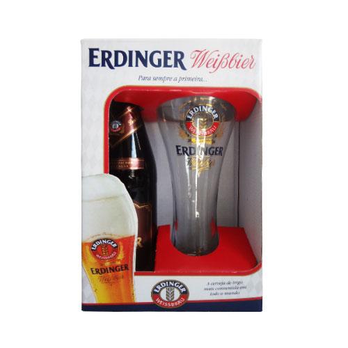 Kit Cerveja Erdinger Dunkel 500ml com Copo