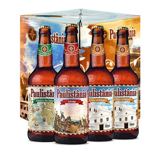 Kit Cerveja Paulistânia 500ml 4 Unidades