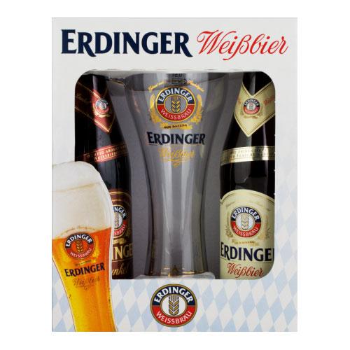 Kit Cerveja Erdinger 500ml 2 Unidades com Copo