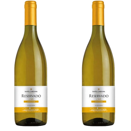 2 Vinhos Santa Carolina Reservado Chardonnay 750ml
