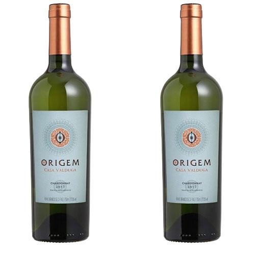 2 Vinhos Origem Casa Valduga Chardonnay 750ml