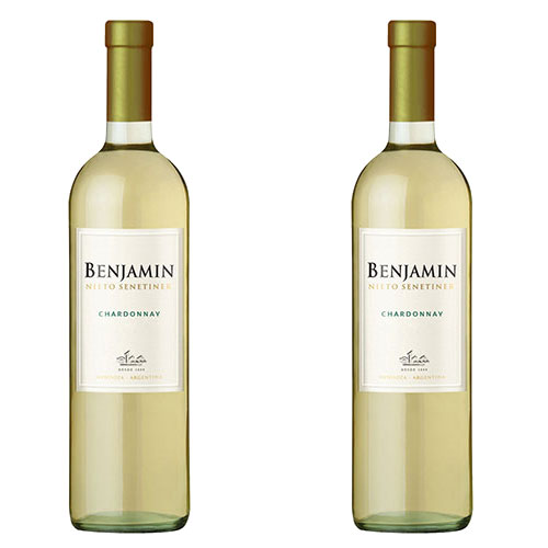 2 Vinhos Benjamin Nieto Senetiner Chardonnay 750ml