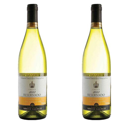 2 Vinhos Errázuriz Reservado Chardonnay 750ml