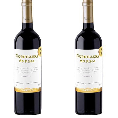 2 Vinhos Cordillera Andina Carménère 750ml