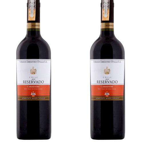 2 Vinhos Errazuriz Reservado Carménère 750ml