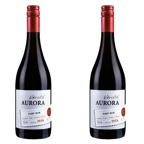 2 Vinhos Aurora Varietal Pinot Noir 750ml