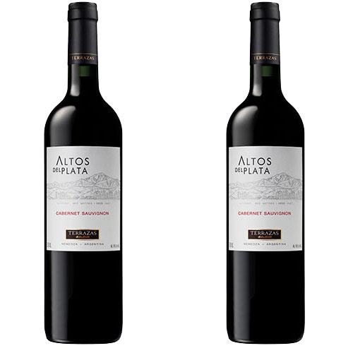 2 Vinhos Terrazas Altos del Plata Cabernet Sauvignon 750ml