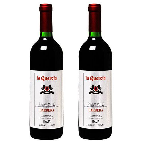 2 Vinhos La Quercia Barbera D.O.C. 750ml