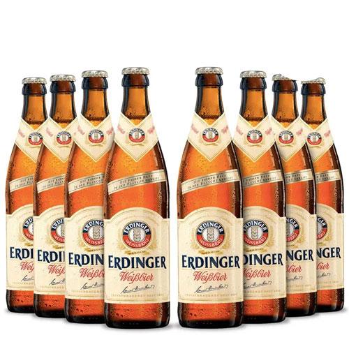 Pack 8 Cervejas Erdinger Weissbier 500ml