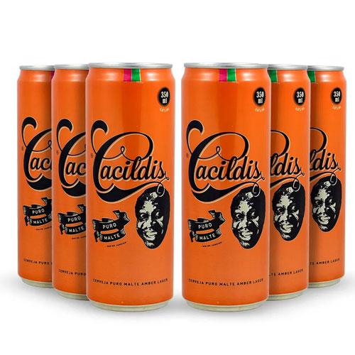 Pack 6 Cervejas Ampolis Cacildis do Mussum Lata 350ml