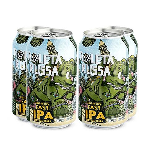 Pack 04 Cervejas Roleta Russa Easy IPA Lata 350ml