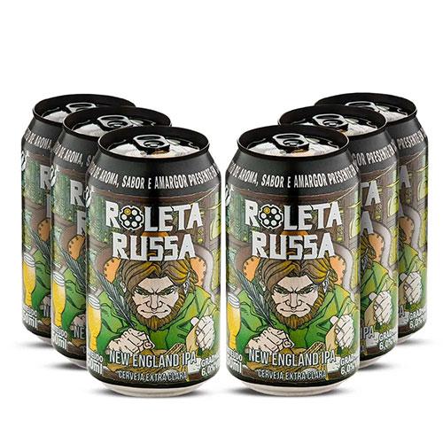 Pack 06 Cervejas Roleta Russa Neipa Lata 350ml
