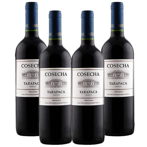 4 Vinhos Cosecha Tarapacá Merlot 750ml