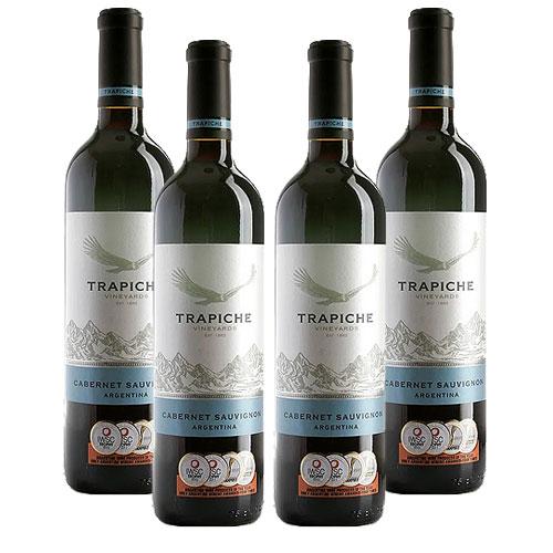 4 Vinhos Trapiche Cabernet Sauvignon 750ml