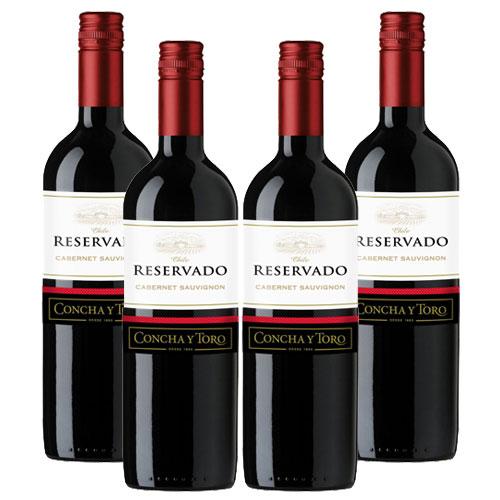 4 Vinhos Concha Y Toro Reservado Cabernet Sauvignon 750ml
