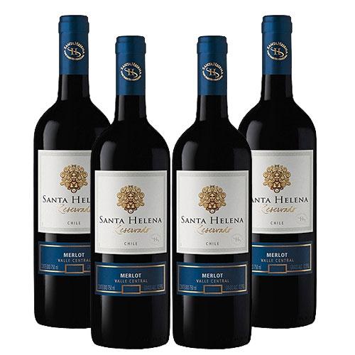 4 Vinhos Santa Helena Merlot Reservado 750ml