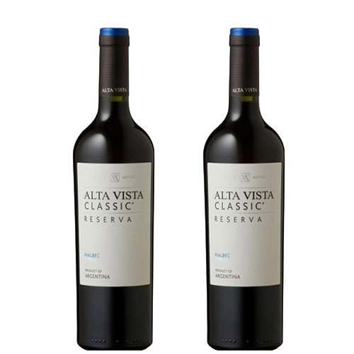2 Vinhos Alta Vista Classic Reserva Malbec 750ml