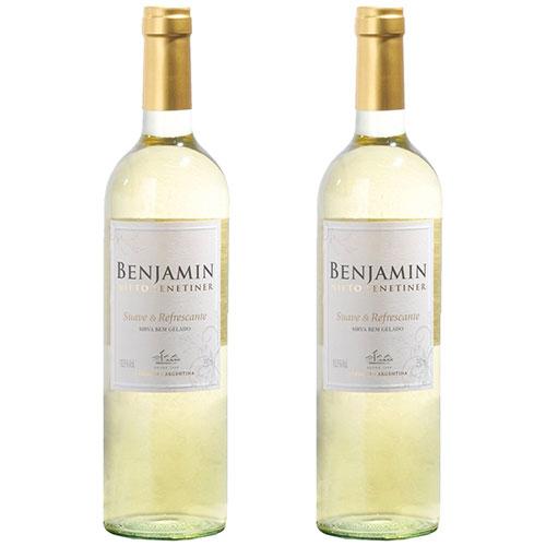 2 Vinhos Benjamin Nieto Branco Suave  Refrescante 750ml