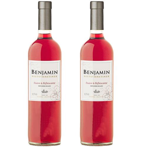 2 Vinhos Benjamin Nieto Rose Suave  Refrescante 750ml