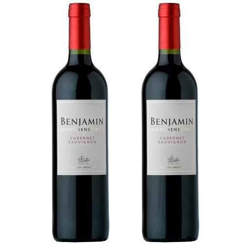 2 Vinhos Benjamin Nieto Senetiner Cabernet Sauvignon 750ml