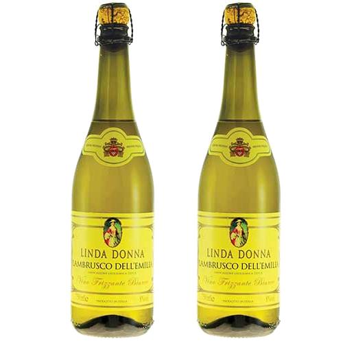 2 Vinhos Lambrusco Linda Donna Frisante Branco 750ml