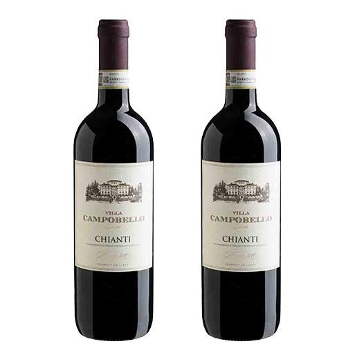 2 Vinhos Villa Campobello Chianti D.O.C.G. 750ml