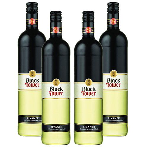 4 Vinhos Black Tower Rivaner 750ml