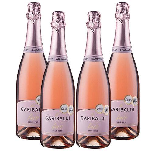 4 Espumantes Garibaldi Vero Brut Rosé 750ml