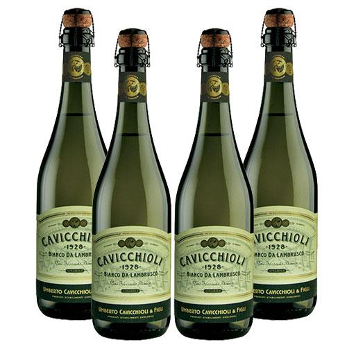 4 Vinhos Lambrusco Cavicchioli Dell Emilia Branco Suave 750ml