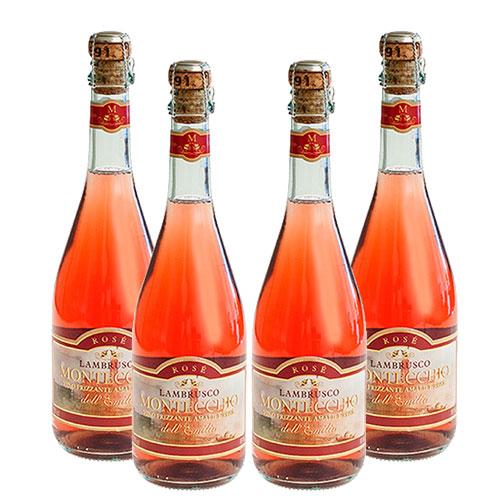 4 Vinhos Lambrusco Montecchio Rosé 750ml