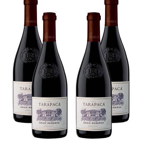 4 Vinhos Tarapacá Gran Reserva Carmenere 750ml