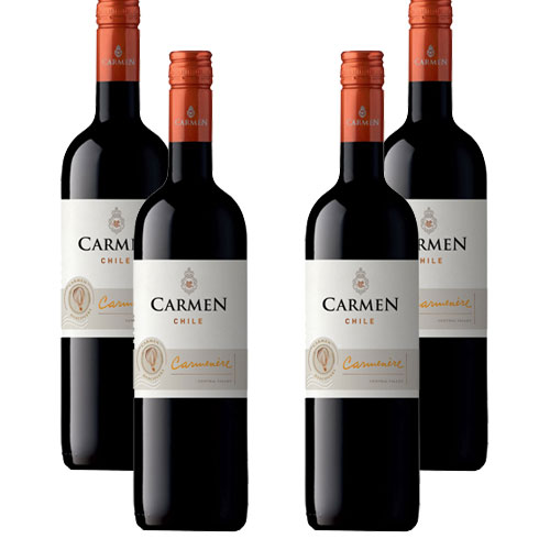 4 Vinhos Vina Carmen Carmenere 750ml