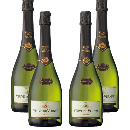 4 Espumantes Veuve Du Vernay Brut 750ml