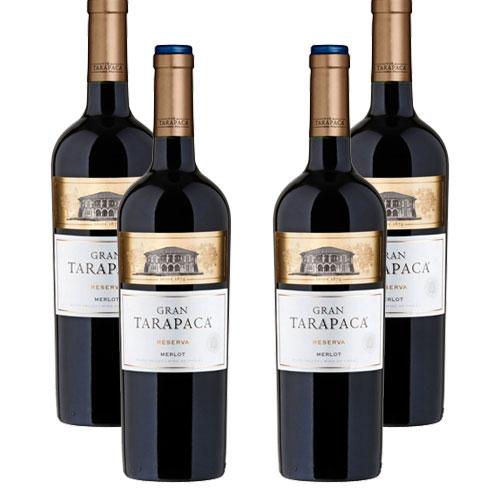 4 Vinhos Gran Tarapacá Reserva Merlot 750ml