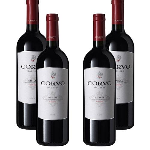 4 Vinhos Corvo Rosso I.G.T. 750ml