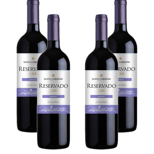 4 Vinhos Santa Carolina Reservado Merlot 750ml