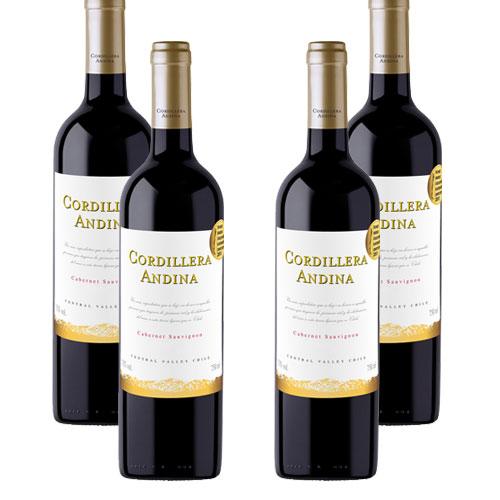 4 Vinhos Cordillera Andina Cabernet Sauvignon 750ml