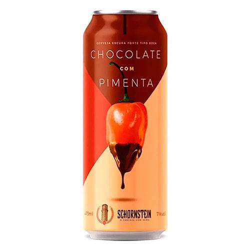 Cerveja Schornstein Bock Chocolate com Pimenta Lata 473ml