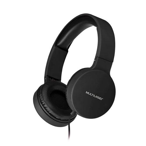 Headphone Dobrável New Fun P2 Preto - Multilaser